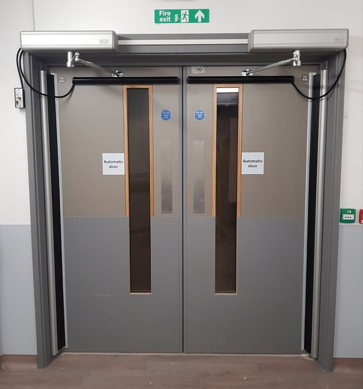 Automatic door servicing in Northampton